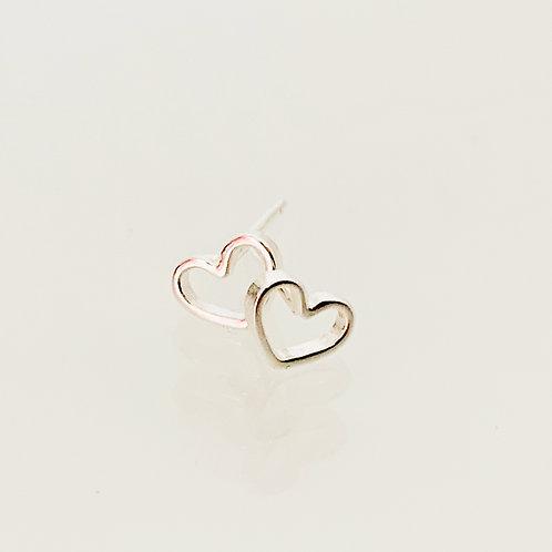Ohrringe Simple Heart