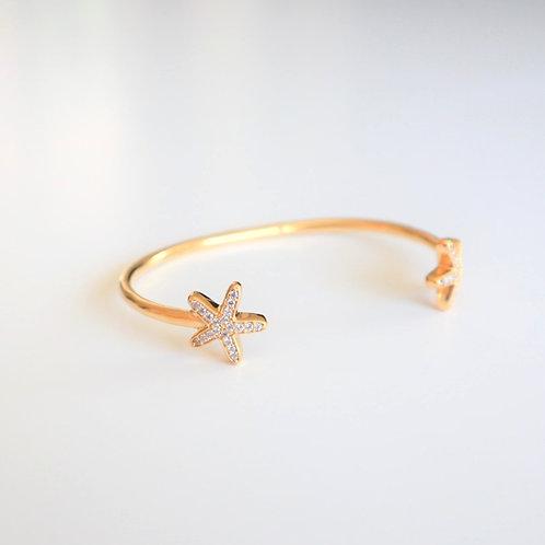 Armband | Armreif Seestern Gold | Pink Sand