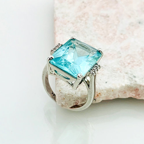 Ring Aquamarine Kiss