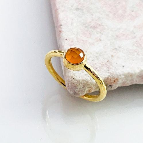 Ring Achat Orange Gold