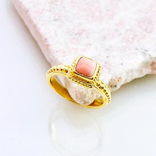 Ring Koralle Gold