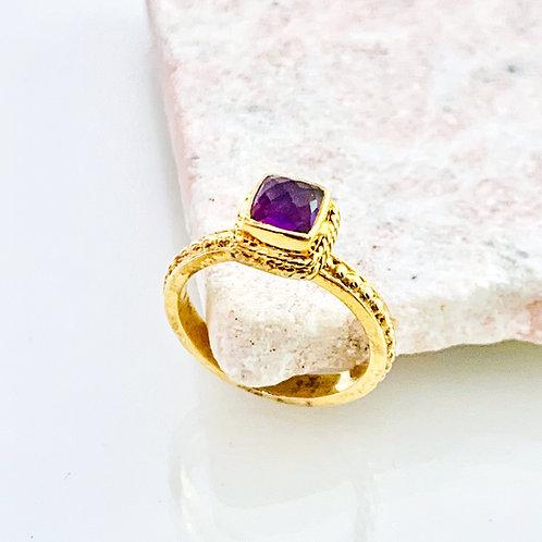 Ring Amethyst Gold