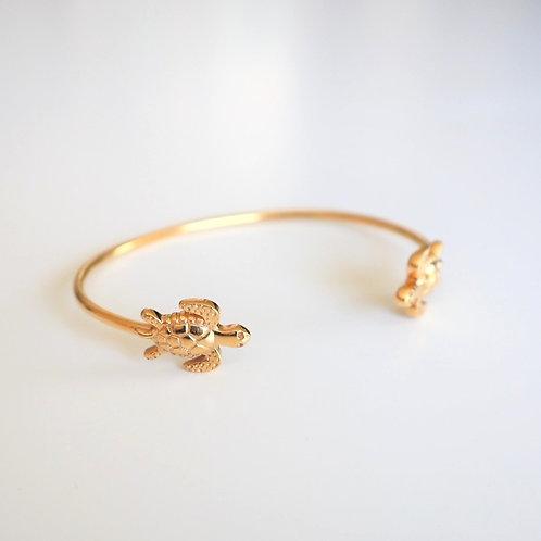 Armband | Armreif Turtle Gold | Pink Sand