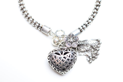 Armband Silver Heart Trust