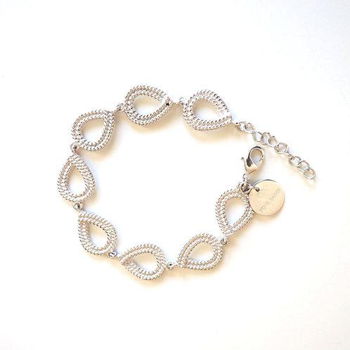 Armband | Armkette Beauty Silver | Pink Sand