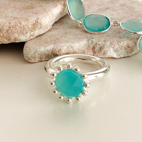 Ring Aqua Achat