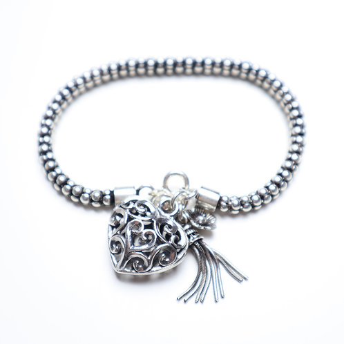 Armband Silver Heart Love