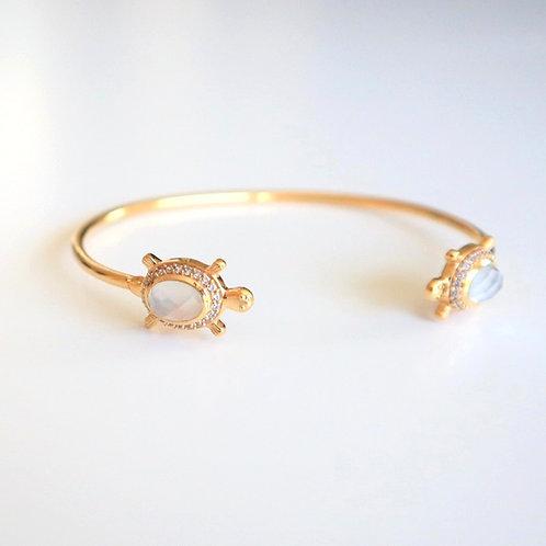 Armband | Armreif Turtle Mondstein | Pink Sand