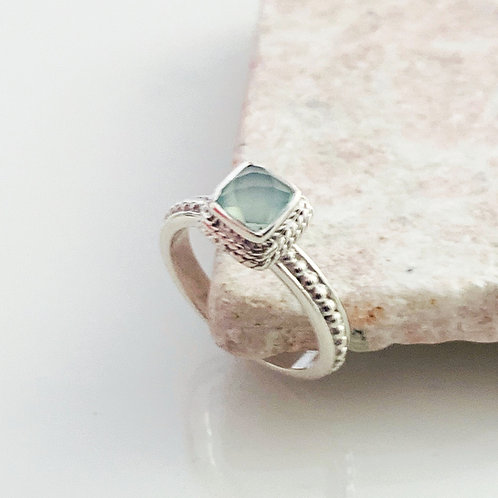 Ring Achat Aqua