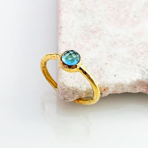 Ring Achat Blau Gold