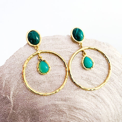 Ohrringe Goldrush Green