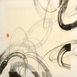 60 x 60 cm - Encre de chine sur papier japonais, 2013