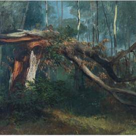 """Jules COIGNET (1798 – 1860) """"Tronc cassé"""""""