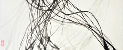 calligraphie,1  28 x 67,5 cm - Encre de chine sur papier japonais, 2013
