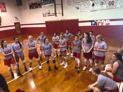 volleyball team workout