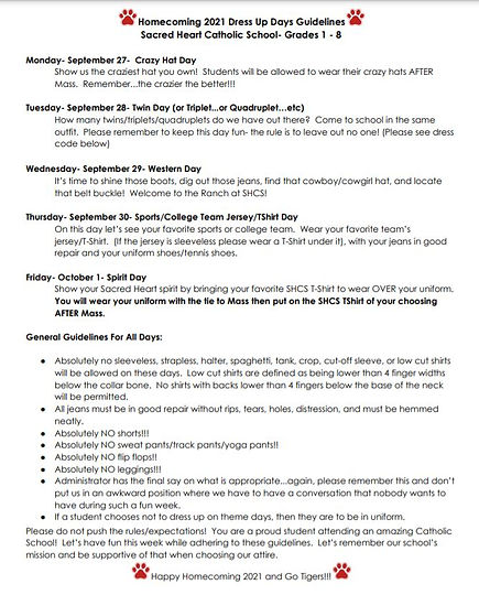 Grades 1-8 Homecoming Week Dress-Up Days.JPG