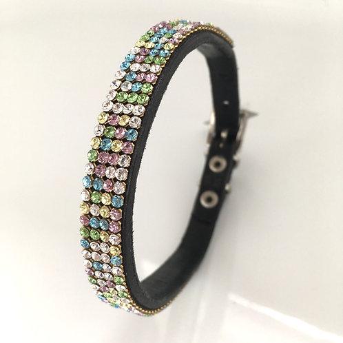 Multicoloured Crystal Dog Collars