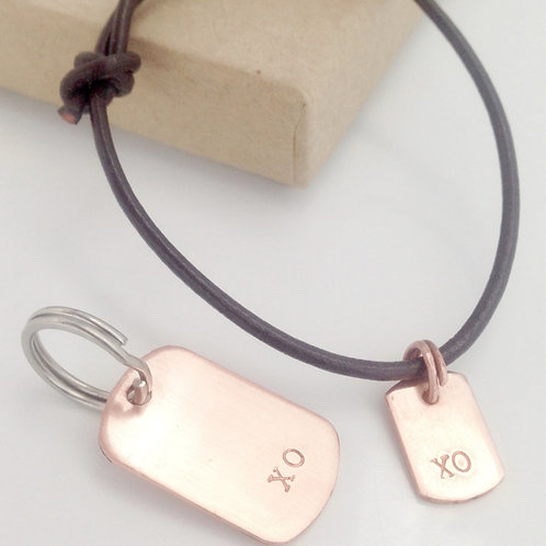 Dog Tag and Bracelet set - personalised