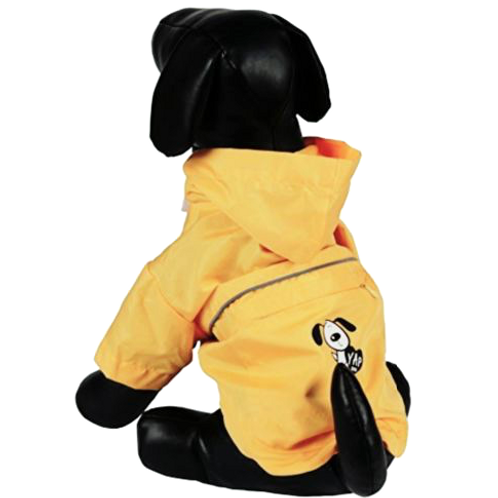 Raincoat with foldaway pouch
