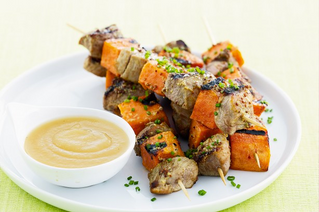 Pork and Sweet Potato Skewers
