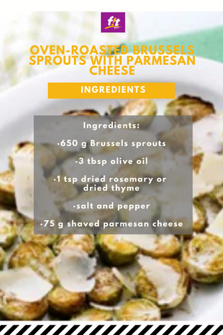 Oven-roasted Brussels sprouts with parmesan cheese