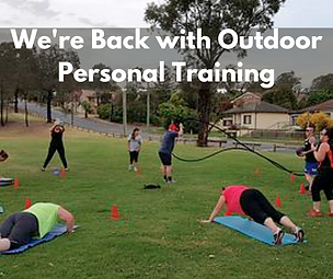 We're Back with Outdoor Personal Trainin