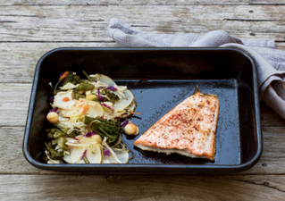 One Pan Salmon with Superfood Slaw!