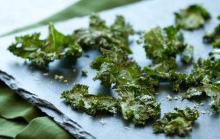 Roasted Kale Chips with  Parmigaino-Reggiano