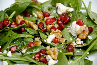 Promegranate, Feta & Walnut Salad that tastes as good as it looks!