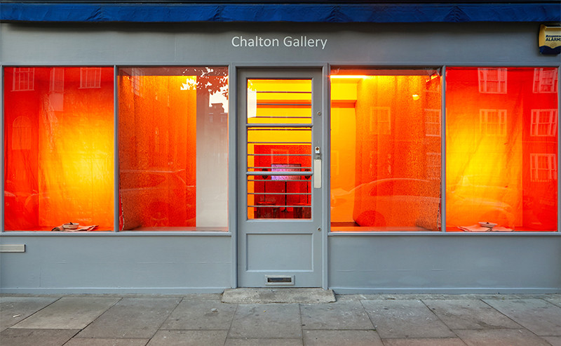 Diaries, installation image at Chalton Gallery, 2019