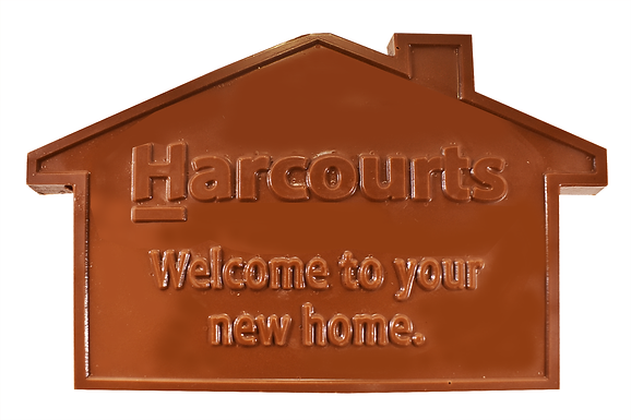 Custom moulded chocolate house (pack of 50)