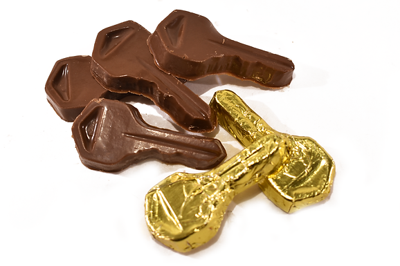 Foiled Chocolate Keys (Pack of 50)