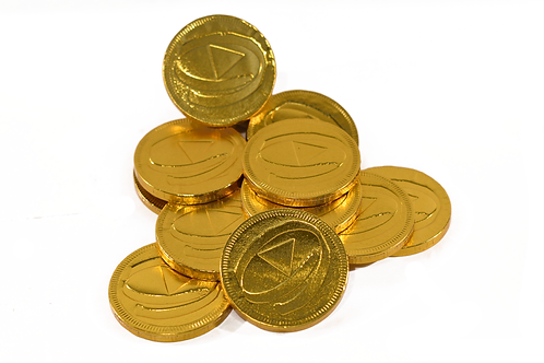 Custom stamped chocolate coins (Pack of 100)