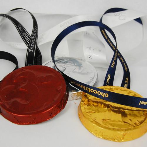 Foiled Custom Medal & Ribbon