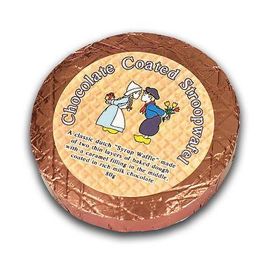 Chocolate Coated Stroopwafel