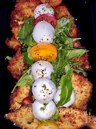 Chicken Milanese w_ Grape Tomato & Bocconcini Salad