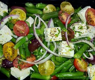 Haricot Vert w_ Cherry tomato's, Olives