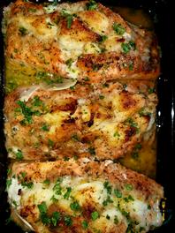 Stuffed Salmon w/ Crab Meat & Citrus Beu