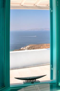 Kardiani house window view