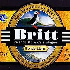 Bière bretonne Britt Blonde Melen 33cl