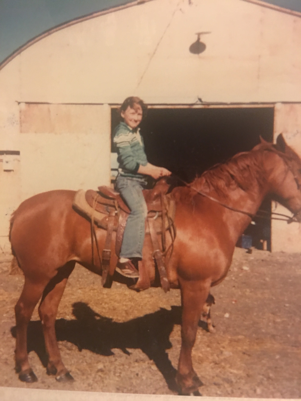 I loved my time spent on my horse, Jinx