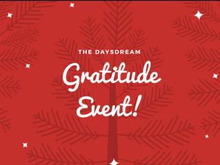 The 3rd Annual Daysdream Gratitude Event!