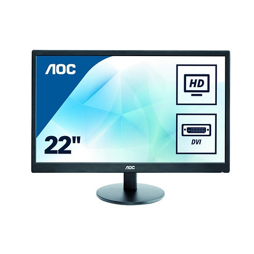 LED 22 AOC DVI VGA מסך מחשב