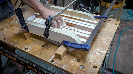 Clamping and wiping up the glue