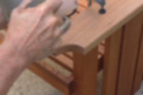 Photo of router used to round over arm rests