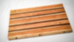 Maple, walnut, and oak cutting board