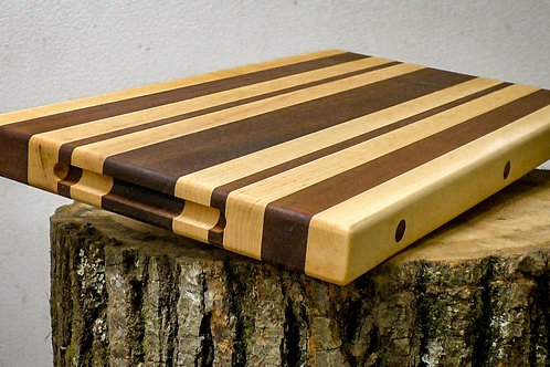 Walnut and Maple Edge Grain Cutting Board