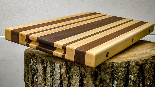Photo of the finished cutting board