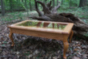 Photo of the table in the woods