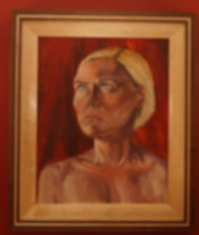 Photo of the framed painting